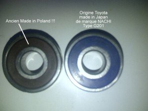 Toyota BJ roulement centreur embrayage